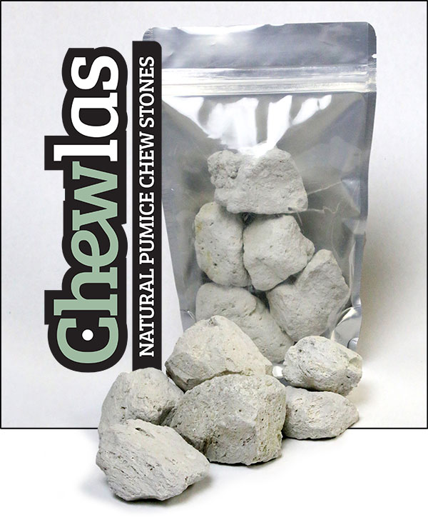Chewlas pumice stones in package